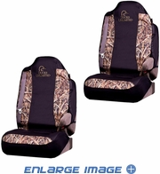 Front Car Truck SUV Bucket Seat Covers - Ducks Unlimited Camo - PAIR