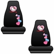Front Universal Bucket Seat Covers - Car Truck SUV - Sanrio - Hello Kitty - Hearts - PAIR