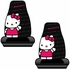 Front Universal Bucket Seat Covers - Car Truck SUV - Sanrio - Hello Kitty - Waving - PAIR