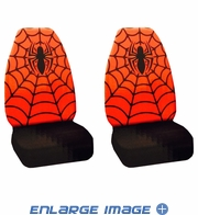 Front Car Truck SUV Bucket Seat Covers - Marvel Comics - Spider-Man - PAIR