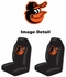 Front Car Truck SUV Bucket Seat Covers - MLB - Baltimore Orioles - pair