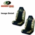 Front Car Truck SUV Poly Spandex Bucket Seat Covers - Camouflage - Mossy Oak Infinity Logo - pair