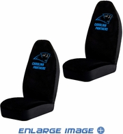Front Car Truck SUV Bucket Seat Covers - NFL - Carolina Panthers - Pair