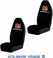 Front Car Truck SUV Bucket Seat Covers - NFL - Cincinnati Bengals - Pair
