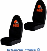 Front Car Truck SUV Bucket Seat Covers - NFL - Cleveland Browns - Pair