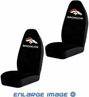 Front Car Truck SUV Bucket Seat Covers - NFL - Denver Broncos - Pair