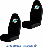 Front Car Truck SUV Bucket Seat Covers - NFL - Miami Dolphins - PAIR