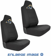 Front Car Truck SUV Bucket Seat Covers - NFL - St. Louis Rams - Pair
