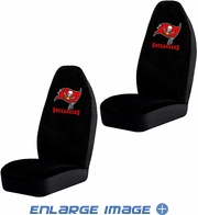 Front Car Truck SUV Bucket Seat Covers - NFL - Tampa Bay Buccaneers - Pair