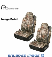 Front Car Truck SUV Bucket Seat Covers - Premium Neoprene - Camouflage - Ducks Unlimited - PAIR