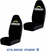 Front Car Truck SUV Bucket Seat Covers - San Diego Chargers - PAIR