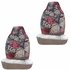 Front Car Truck SUV Bucket Seat Covers - Two Butterflies and Red Roses - pair