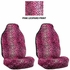 Front Car Truck SUV Universal-fit Bucket Seat Covers - Animal Print - Leopard - Pink - pair
