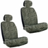 Front Car Truck SUV Low Back Bucket Seat Covers - Animal Print - Cheetah - Beige Tan - pair