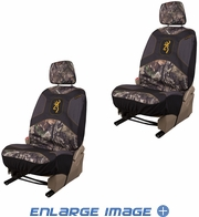 Front Car Truck SUV Low Back Bucket Seat Covers - Browning Buckmark Camo - PAIR