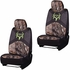 Front Car Truck SUV Low Back Bucket Seat Covers - Camouflage - Bone Collector - PAIR