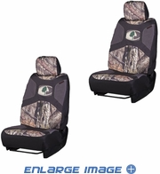 Front Car Truck SUV Low Back Bucket Seat Covers - Camouflage - Mossy Oak - PAIR