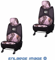 Front Car Truck SUV Low Back Bucket Seat Covers - Mossy Oak Infinity Pink Print Camo - PAIR