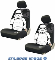 Front Car Truck SUV Low Back Bucket Seat Covers - Star Wars - Storm Trooper - PAIR