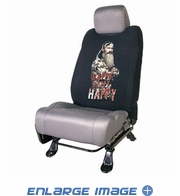 Front Car Truck SUV Low Back Bucket Seat Sleeve - Duck Dynasty - Phil Happy Happy Happy