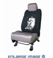 Front Car Truck SUV Low Back Bucket Seat Sleeve - Duck Dynasty - Uncle Si Hey Jack!
