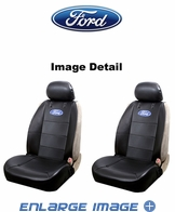 Front Car Truck SUV Low Back Sideless Bucket Seat Covers - Elite Series - Ford Logo - PAIR