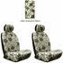 Front Car Truck SUV Low Back Bucket Seat Covers - Hawaiian Hibiscus Flowers - Grey - pair