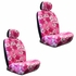 Front Car Truck SUV Low Back Bucket Seat Covers - Hawaiian Hibiscus Flowers - Pink - pair