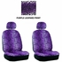Front Car Truck SUV Low Back Bucket Seat Covers - Animal Print - Leopard - Purple - pair