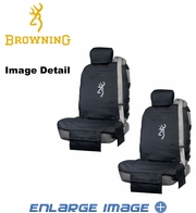 Front Car Truck SUV Lowback Tactical Bucket Seat Covers - Camouflage - Browning Buckmark Logo - PAIR