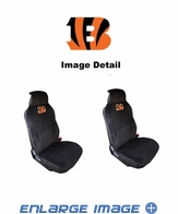 Front Car Truck SUV Universal-fit Low Back Bucket Seat Covers - Cincinnati Bengals - PAIR