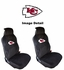 Front Car Truck SUV Universal-fit Low Back Bucket Seat Covers - Kansas City Chiefs - PAIR