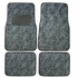 Front & Rear Seat Carpet Floor Mats - Car Truck SUV - Animal Print - Cheetah - Grey Snow