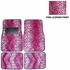 Front & Rear Seat Carpet Floor Mats - Car Truck SUV - Animal Print - Leopard - Pink
