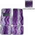 Front & Rear Seat Carpet Floor Mats - Car Truck SUV - Animal Print - Leopard - Purple