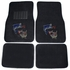 Front & Rear Seat Carpet Floor Mats - Car Truck SUV - Crystal Studded Rhinestone Bling - Dolphins Hearts