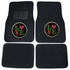 Front & Rear Seat Carpet Floor Mats - Car Truck SUV - Crystal Studded Rhinestone Bling - Love Circle
