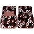 Front & Rear Seat Carpet Floor Mats - Car Truck SUV - Hawaiian Hibiscus Flowers - Burgundy Red