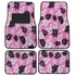 Front & Rear Seat Carpet Floor Mats - Car Truck SUV - Hawaiian Hibiscus Flowers - Pink