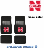 Front & Rear Seat Carpet Floor Mats - Car Truck SUV - UN University of Nebraska Cornhuskers