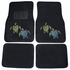 Front & Rear Seat Carpet Floor Mats - Crystal Studded Rhinestone Bling - Car Truck SUV - Blue and Green Turtles with Stars and Hearts