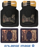 Front & Rear Seat Heavy Duty Trim-to-Fit Floor Mats - Car Truck SUV - Browning Buckmark Camo