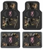 Front & Rear Seat Heavy Duty Trim-to-Fit Floor Mats - Car Truck SUV - Camouflage - Browning Buckmark Logo - Pink