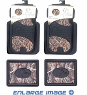 Front & Rear Seat Heavy Duty Trim-to-Fit Floor Mats - Car Truck SUV - Ducks Unlimited Camo