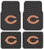 Front & Rear Seat Rubber Floor Mats - Car Truck SUV - Chicago Bears