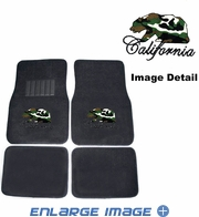 Front & Rear Seat Rubber Floor Mats - Car Truck SUV - Crystal Studded Rhinestone Bling - California Bear - Camo