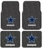 Front & Rear Seat Rubber Floor Mats - Car Truck SUV - Dallas Cowboys