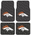 Front & Rear Seat Rubber Floor Mats - Car Truck SUV - Denver Broncos