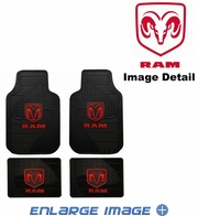 Front & Rear Seat Rubber Floor Mats - Car Truck SUV - Dodge Ram Logo