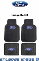 Front & Rear Seat Rubber Floor Mats - Car Truck SUV - Elite Series - Ford Logo